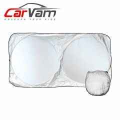 CarVam Windshield Sunshade - Ultimate Sun Shield Heat Protection & UV Blockage 210T Heavy-Duty Strong Micro-Weave Fabric