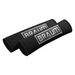 Braum Pair Of Black Racing Harness Pads BRHP-2BLK