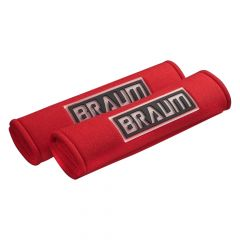 Braum Pair Of Red Racing Harness Pads BRHP-2RED