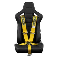 Braum Yellow 5 Point 3 Inch SFI 16.1 Racing Harness BRH-YLS5, Main image