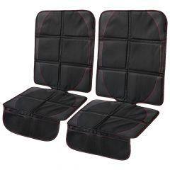 CarVam ® - Pair of Black Waterproof Thick Premium Car Seat Protectors With 2 Mesh Storage Pockets (CVVAMOS)