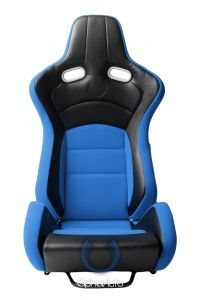 Cipher Auto ® - Blue with Black Carbon PU Universal VP-8 Racing Seats (CPA2003CFBKBU)