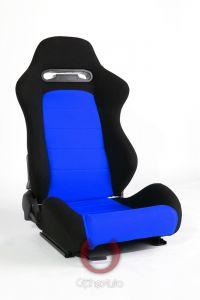 Cipher Auto ® - Black and Blue Insert Cloth Universal Racing Seats (CPA1013FBKBU)