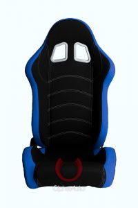 Cipher Auto ® - Blue and Black Cloth Universal Racing Seats (CPA1018FBUBK)