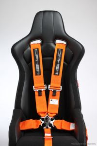 Cipher Auto ® - Orange 5 Point 3 Inches Camlock Racing Harness SFI 16.1 (CPA4005OR)