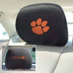 Fanmats Clemson University Universal Head Rest Cover, Front and back view