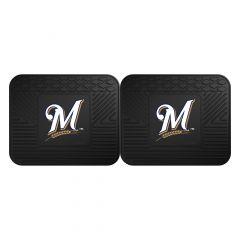 Fanmats ® - Pair of MLB Milwaukee Brewers Universal Vinyl Utility Rear Floor Mats (12337)