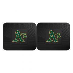 Fanmats ® - Pair of MLB Oakland Athletics Universal Vinyl Utility Rear Floor Mats (12339)