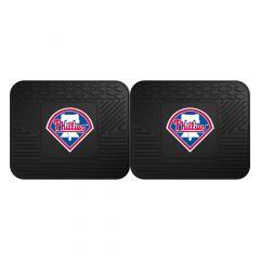 Fanmats ® - Pair of MLB Philadelphia Phillies Universal Vinyl Utility Rear Floor Mats (12340)