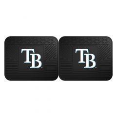 Fanmats ® - Pair of MLB Tampa Bay Rays Universal Vinyl Utility Rear Floor Mats (12345)