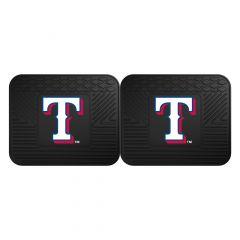 Fanmats ® - Pair of MLB Texas Rangers Universal Vinyl Utility Rear Floor Mats (12346)