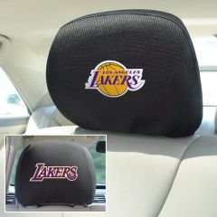 Fanmats ® - Pair of NBA Los Angeles Lakers Universal Headrest Covers (12522)