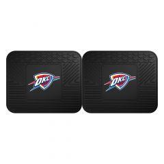 Fanmats ® - Pair of NBA Oklahoma City Thunder Universal Vinyl Utility Rear Floor Mats (12389)