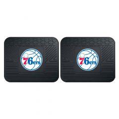 Fanmats ® - Pair of NBA Philadelphia 76ers Universal Vinyl Utility Rear Floor Mats (12384)