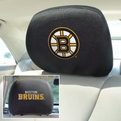 Fanmats ® - Pair of NHL Boston Bruins Universal Headrest Covers (14778)