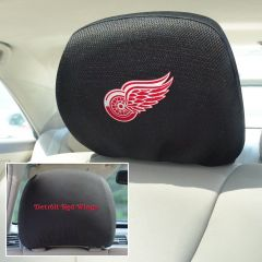 Fanmats ® - Pair of NHL Detroit Red Wings Universal Headrest Covers (14781)
