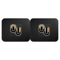 Fanmats ® - Pair of Oakland University Universal Vinyl Utility Rear Floor Mats (18672)
