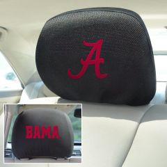 Fanmats ® - Pair of University of Alabama Universal Headrest Covers (12607)