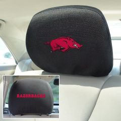 Fanmats ® - Pair of University of Arkansas Universal Headrest Covers (12557)