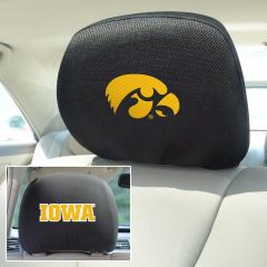 Fanmats ® - Pair of University of Iowa Universal Headrest Covers (12571)
