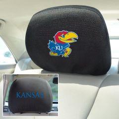 Fanmats ® - Pair of University of Kansas Universal Headrest Covers (12573)