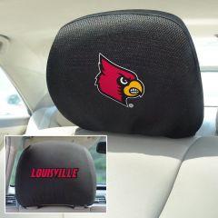 Fanmats ® - Pair of University of Louisville Universal Headrest Covers (12578)
