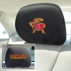 Fanmats ® - Pair of University of Maryland Universal Headrest Covers (12580)