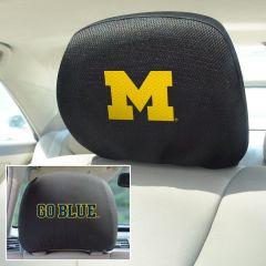 Fanmats ® - Pair of University of Michigan Universal Headrest Covers (12582)
