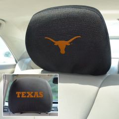 Fanmats ® - Pair of University of Texas Universal Headrest Covers (12599)