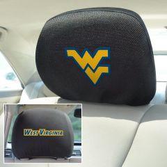 Fanmats ® - Pair of West Virginia University Universal Headrest Covers (12603)
