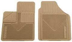 Husky Liners ® - Heavy Duty Tan Custom Front Floor Mats (51143)