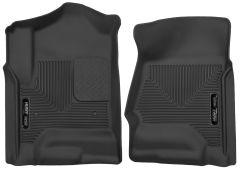 Husky Liners ® - X-act Contour™ Black Custom Front Floor Liners (53111)