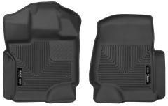 Husky Liners ® - X-act Contour™ Black Custom Front Floor Liners (53341)