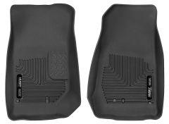 Husky Liners ® - X-act Contour™ Black Custom Front Floor Liners (53571)