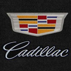 Lloyd Mats Velourtex Black 4PC Floor Mats For Cadillac XT5, Logo