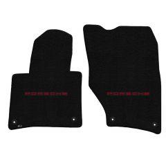 Lloyd ® - Ultimat™ Black Custom Front Floor Mats With Red Porsche Lettering Logo (600271)