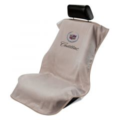 Seat Armour Black Towel Seat Covers with Cadillac Crest and Script (SA100CADB), Item Image