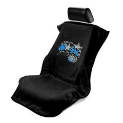 Seat Armour Black Towel Seat Cover with NBA Orlando Magic Logo - Front-Right View