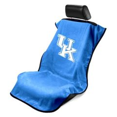 Seat Armour Blue Towel Seat Cover with NCAA Kentucky Wildcats Logo - Front-Right View