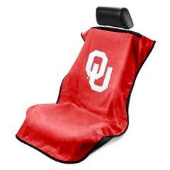 Seat Armour ® - Red Towel Seat Cover with NCAA Oklahoma University Logo (SA100OKU)