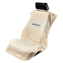 Seat Armour ® - Tan Towel Seat Cover with Nissan Logo (SA100NISST)