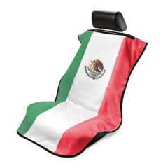 Seat Armour Towel Seat Cover with Mexican Flag - Front-Right View