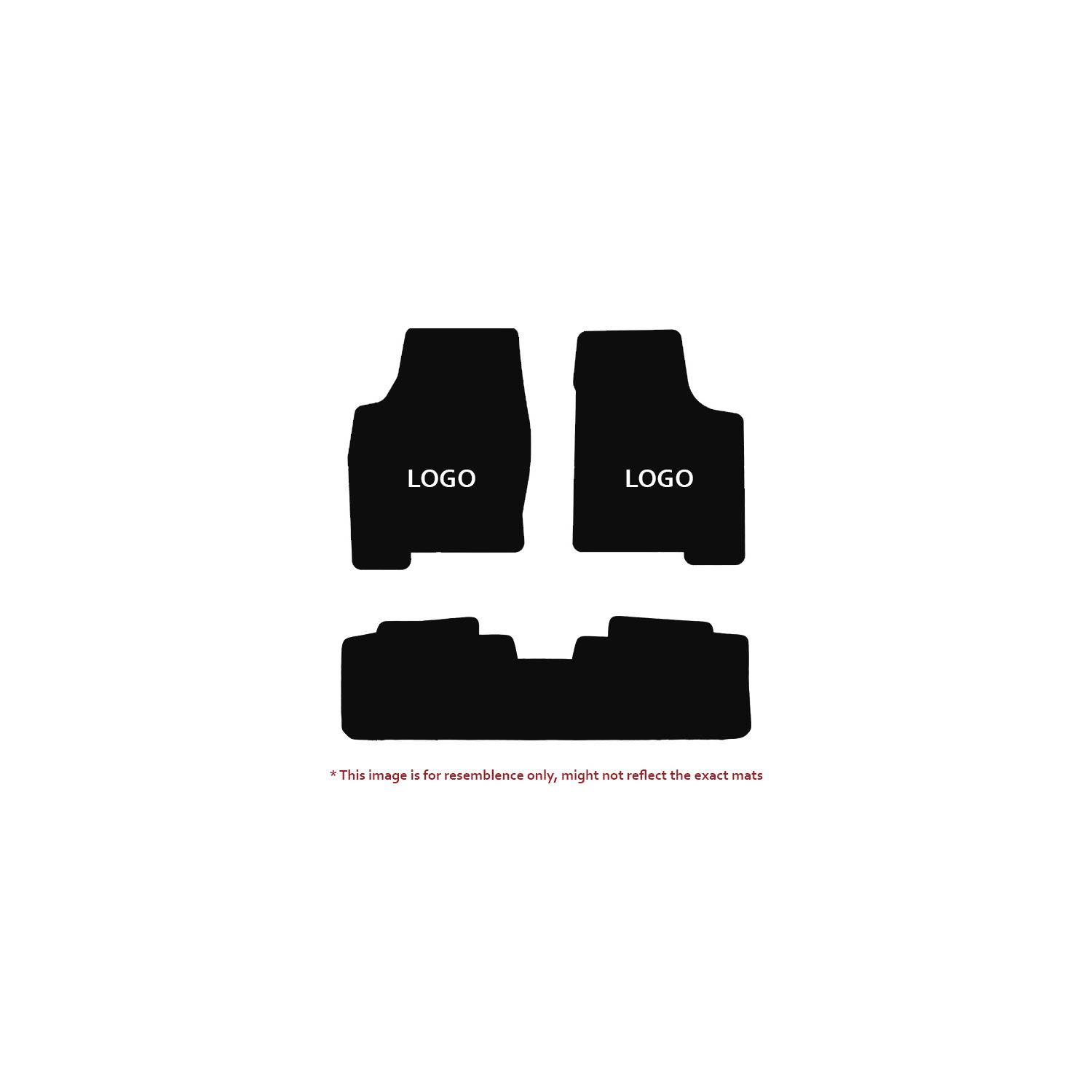 Velourtex Black 3PC Floor Mats For Acura