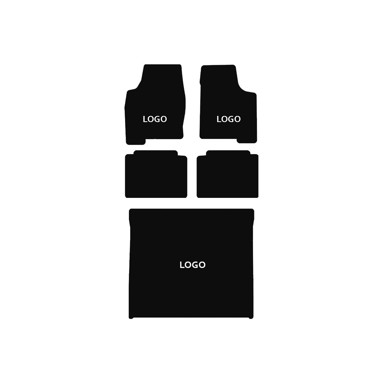 Velourtex Black 5PC Floor Mats For Acura