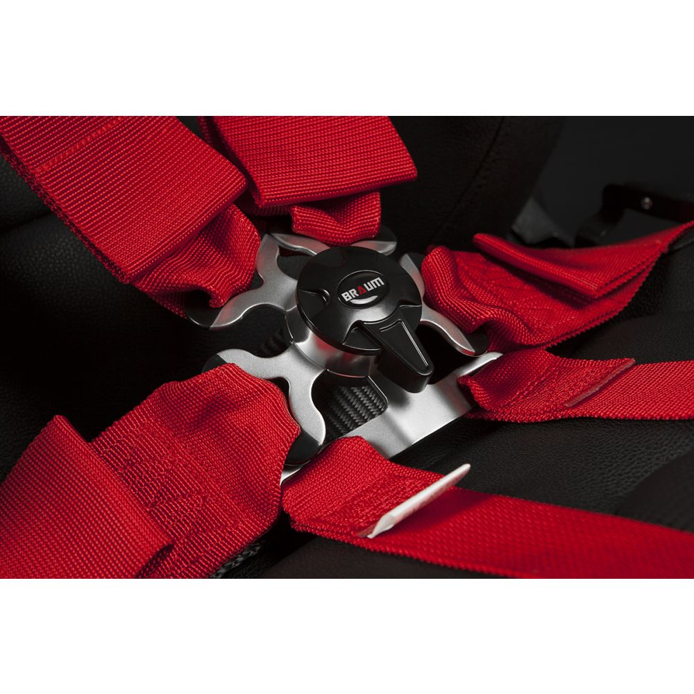 Braum ® - Red 6 Point 3 Inch FIA Racing Harness (BRH-RDF6)