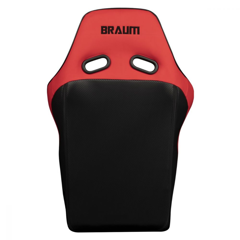 Braum ® - Red Ultra Grip Fabric FIA Approved Fixed Back FALCON X Series Racing Seat (BRR8-RDUS)