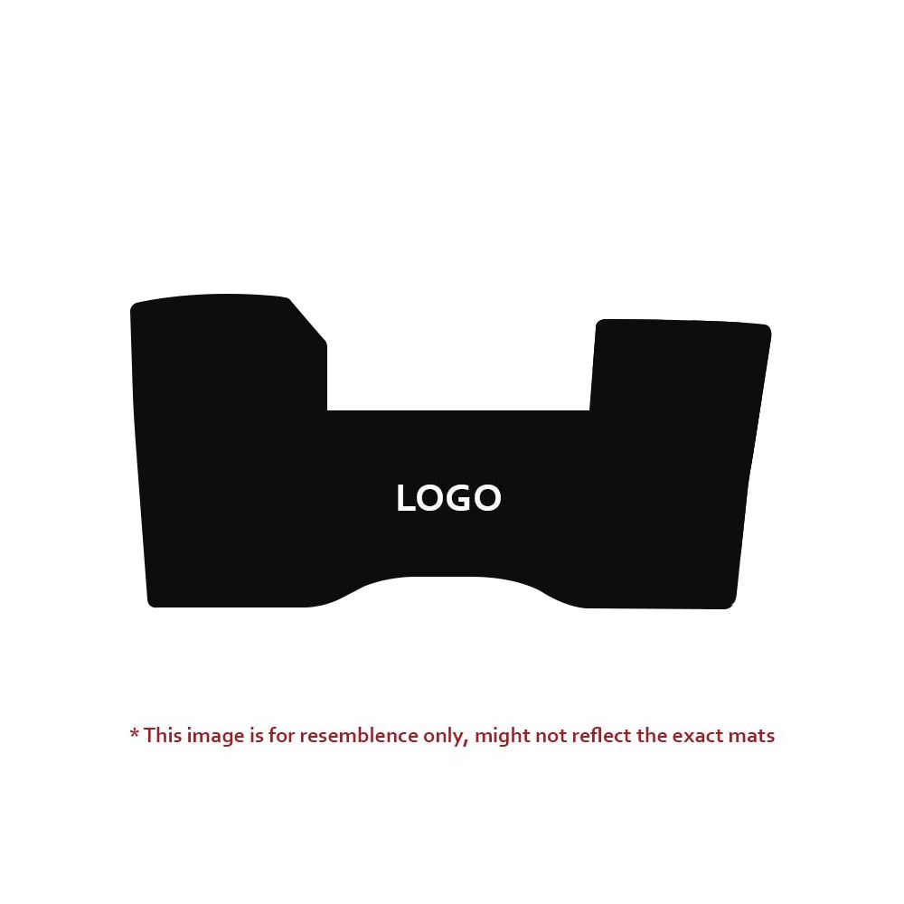 Lloyd Mats ® - Velourtex Black 1PC Front Floor Mat For Cadillac with Gold Cadillac Script Applique