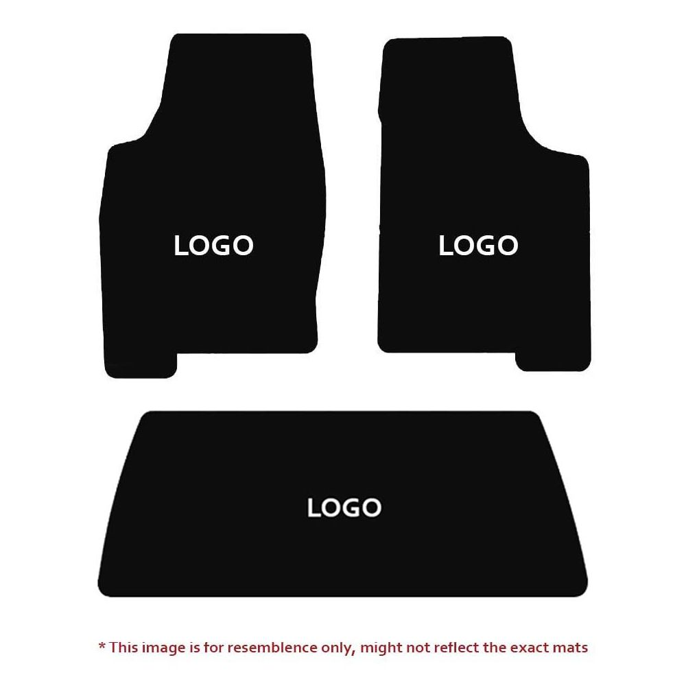 Lloyd Mats ® - Velourtex Black 3PC Floor Mats For Cadillac with Gold Cadillac Script Applique