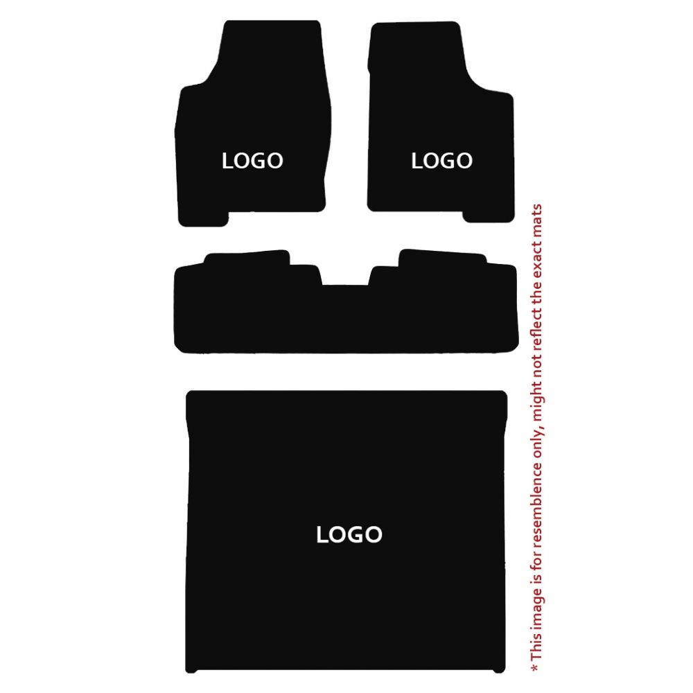 Lloyd Mats ® - Velourtex Black 4PC Floor Mats For Cadillac with Gold Cadillac Script Applique