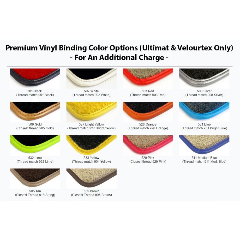 Lloyd Mats ® - Velourtex Black 4PC Floor Mats For Cadillac with Gold Cadillac Script Applique
